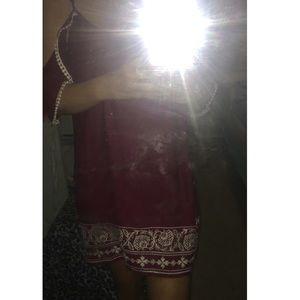 Cute maroon cold shoulder dress. NWT❤️